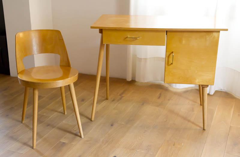 bureau chaise baumann 01. Black Bedroom Furniture Sets. Home Design Ideas